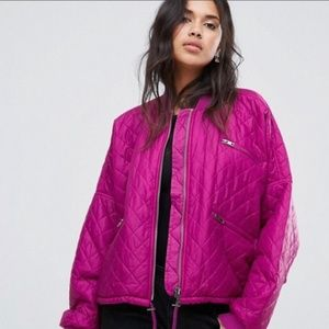 Free People Orchid Easy Quilted Bomber Jacket